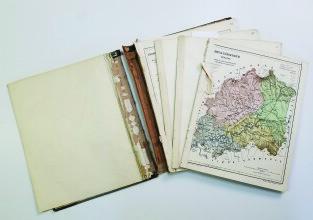 Magyarország vármegyéinek kézi atlasza című könyv restaurálása