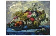 Iványi Grünwald Béla: Virágcsendélet, olaj/vászon, 55 x 67 cm, ltsz.: K.65.1.12.