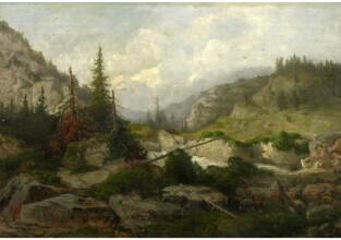 Telepy Károly (1828–1906): Hegyi táj