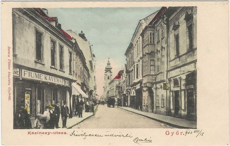 Kazinczy utca mindkét oldala a Deák utcától a Széchenyi térig, 1903, ltsz.: HD.69.16.125.