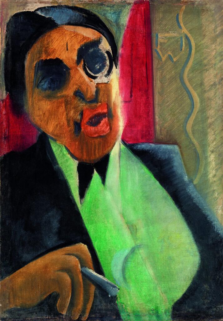 Farkas István: Szomory Dezső portréja, 1921; olaj, vászon; 54x37 cm; ltsz.: K. 85.137.1