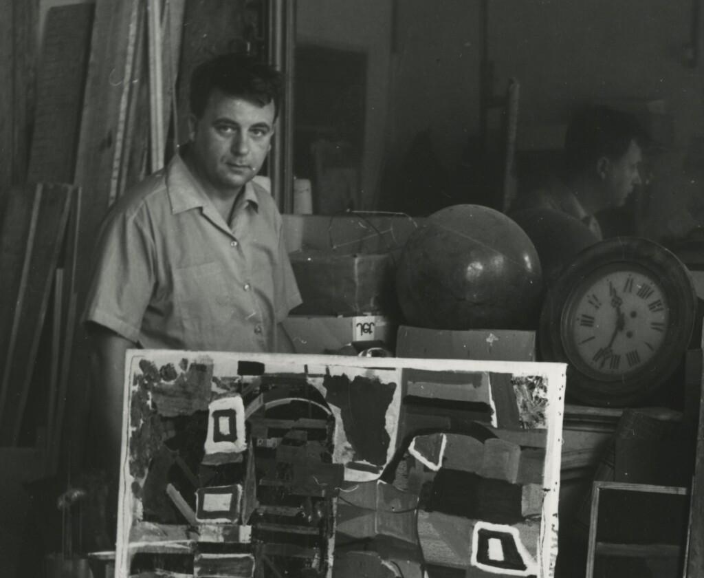 Konok Tamás párizsi műtermében 1967-ben (ltsz.: XJM.KA.7104-88)