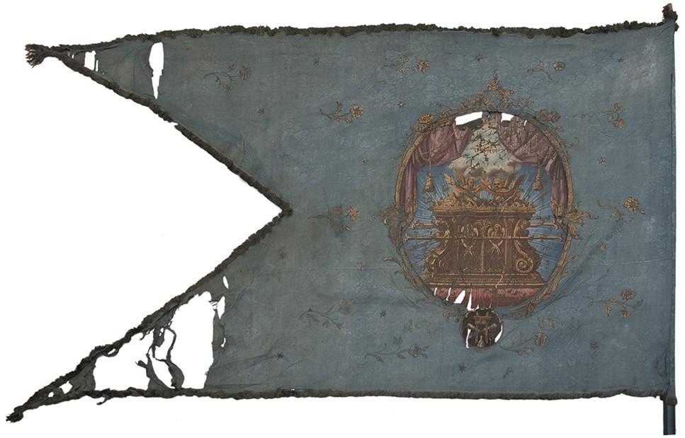 Győri asztaloscéh zászlója, 1788. Ltsz.: 56.65.8.