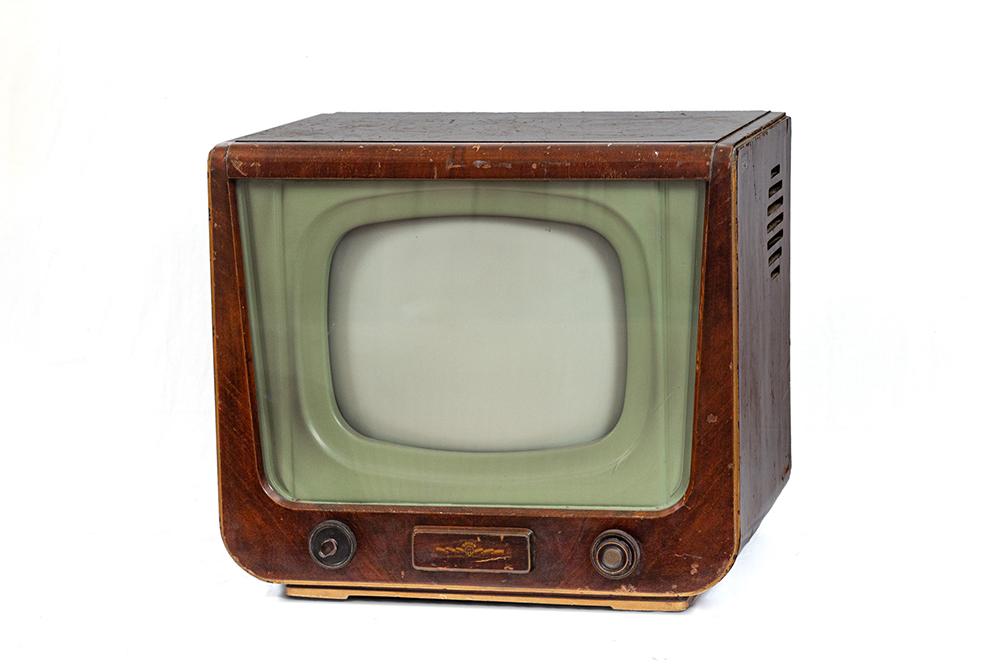1. kép. – Orion AT501 tévé. Leltári szám: RHT.2020.33.1. Méretek: 53 x 60 x 53 cm