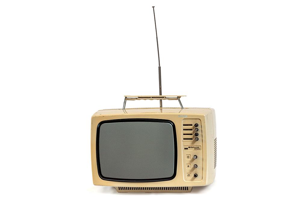 4. kép. – Videoton Minivisor TC1604 tévé. Leltári szám: RHT.2020.33.5. Méretek: 29 x 37 x 30 cm