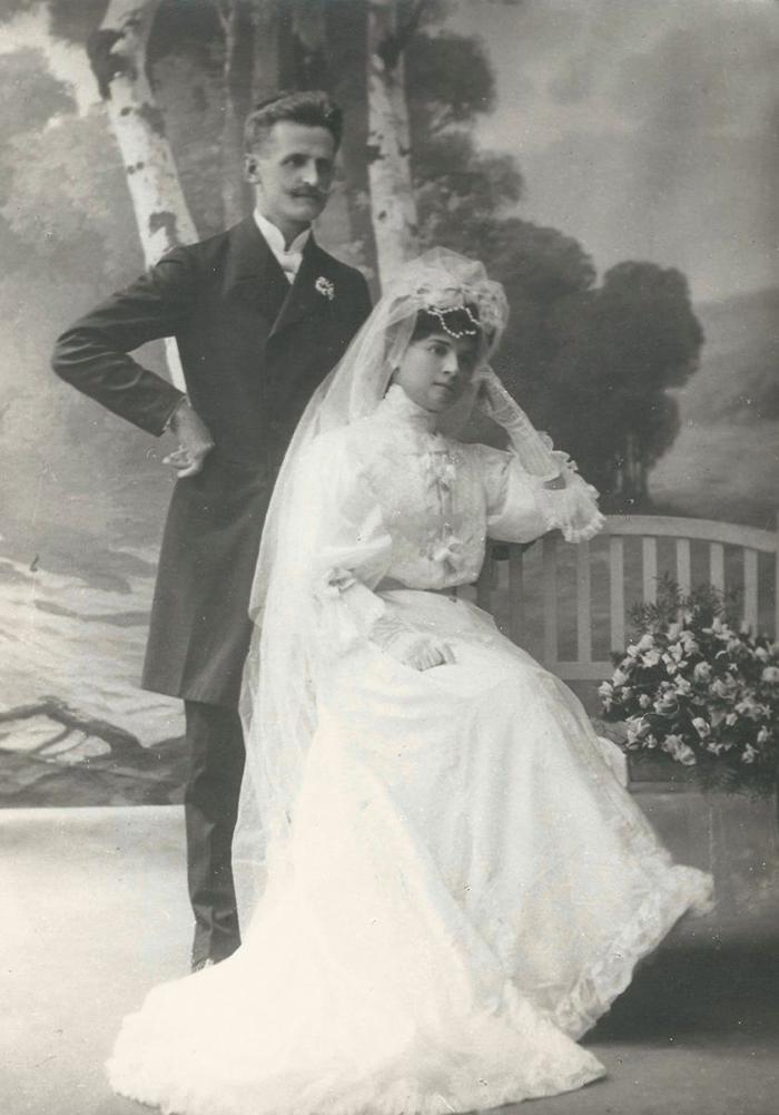 Schima A. Bandi és Ráday Mariska esküvői felvétele, Arad,  1906, ltsz. nélkül