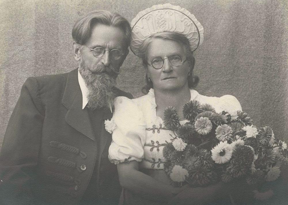 A negyvenedik házassági évfordulójuk alkalmából készült fénykép, Győr,  1946, ltsz. nélkül