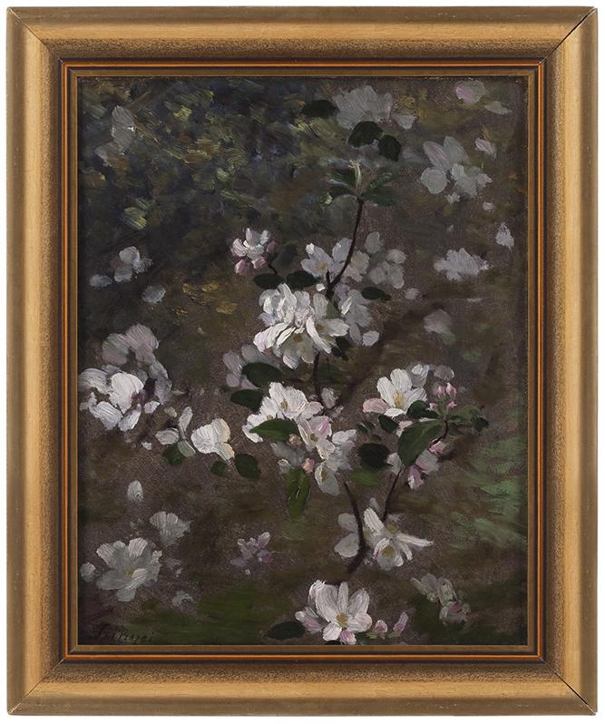 Szinyei Merse Pál: Virágzó ág, 1900 körül; olaj, vászon; 33 x 27 cm. Ltsz.: K.65.1.52.
