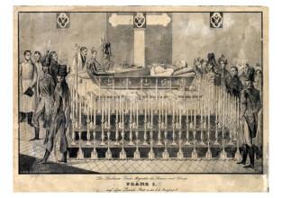 I. Ferenc császár ravatalképe