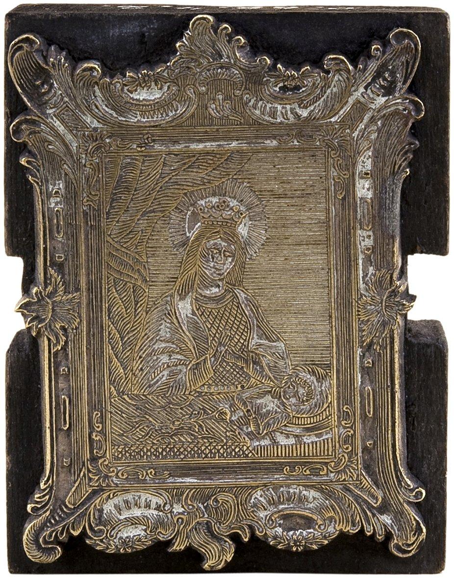 Könnyező Szűzanyát ábrázoló réz nyomódúc 19. század, alap: 69 x 53 x 18 mm, rézlap: 64 x 48 mm, ltsz.: C.68.4.2. Fotó: Tanai Csaba