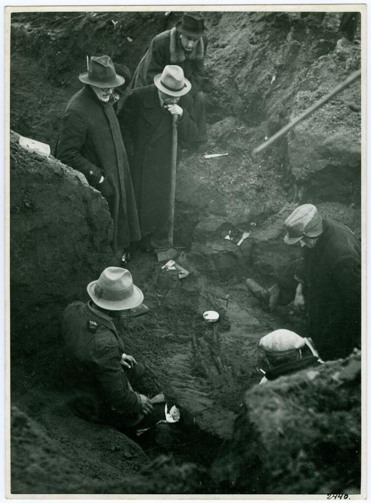 Koroncó, Bábota, honfoglalás-kori sír bontása, 1951. Ltsz. F.2440/c