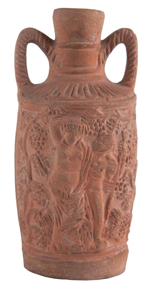 Bacchus-korsó. II-III. század. Kerámia, formába öntött, m: 253 mm, szájátm: 48 mm, Győr, ltsz.: R.53.176.4.