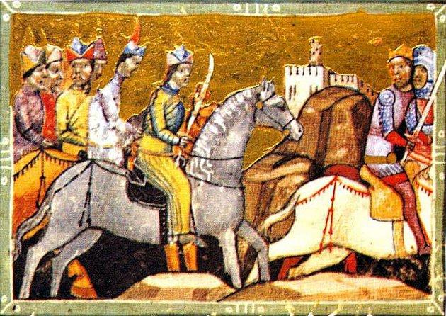 A tatárjárás Miniatúra a Képes Krónikából, 1358 után